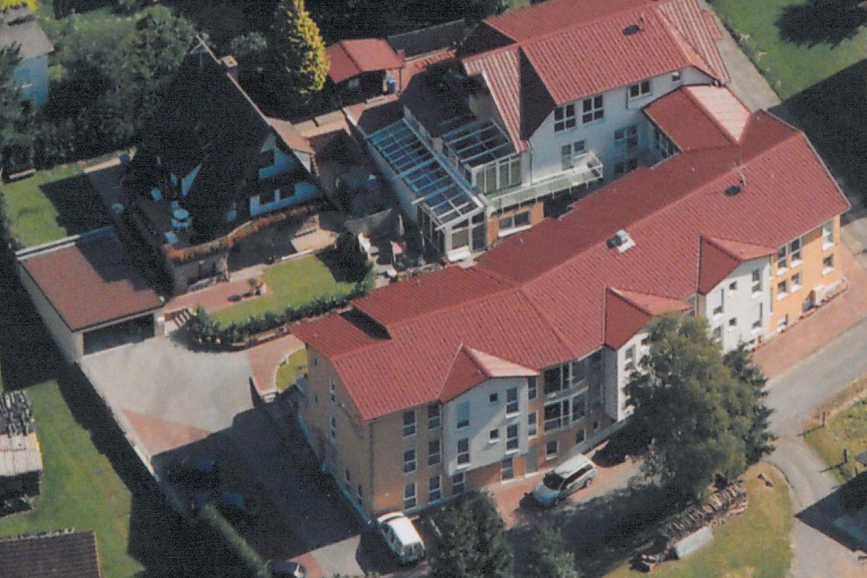 Luftaufnahme vom Nord-West-Abschnitt Seniorenhaus-Odenwald